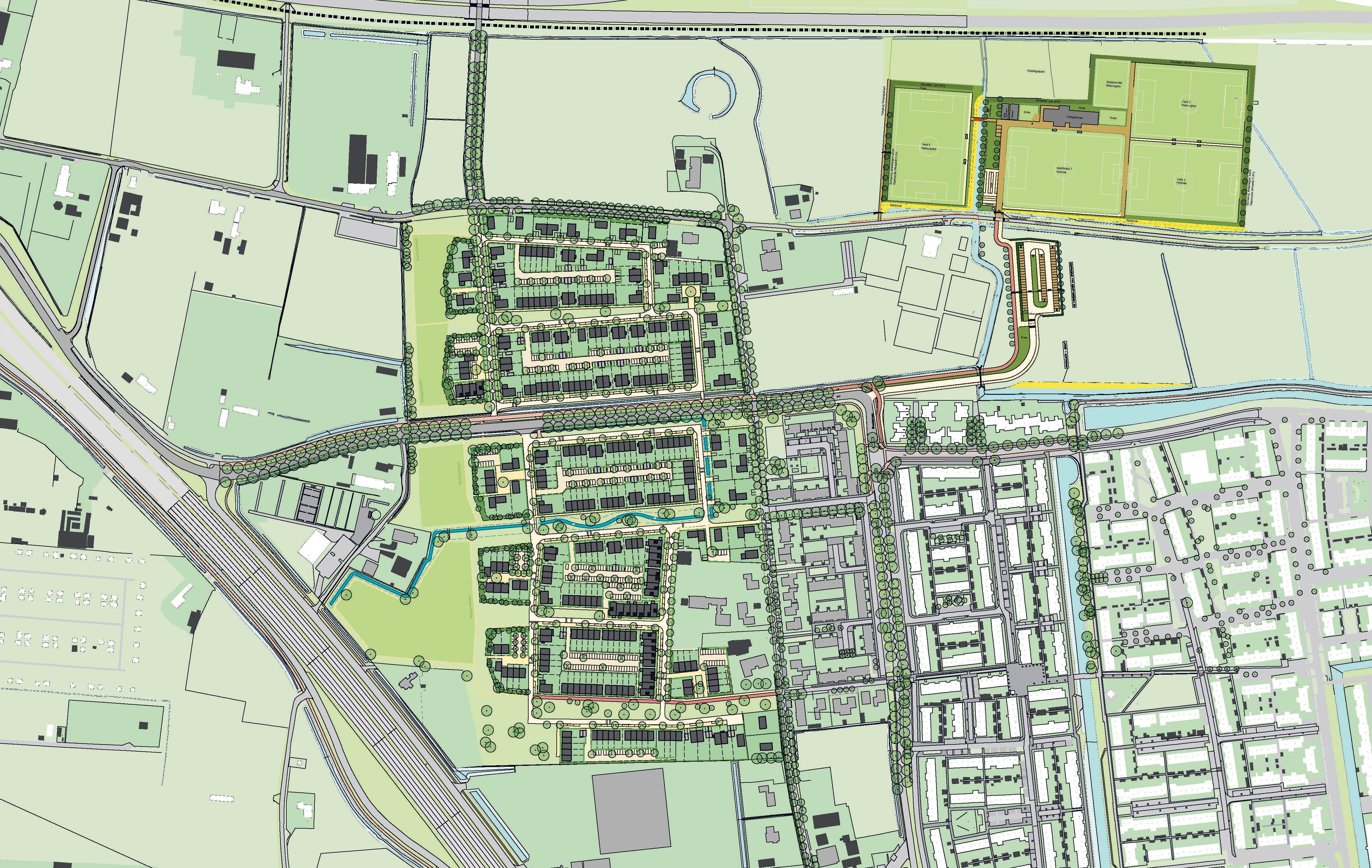 De gemeente Velsen en ontwikkelaars tekenen overeenkomst voor 380 woningen in Velserbroek