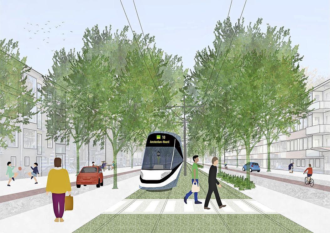 Snel een metro of tram van Amsterdam-Noord naar Zaanstad nodig: veel woningbouw gepland langs de route