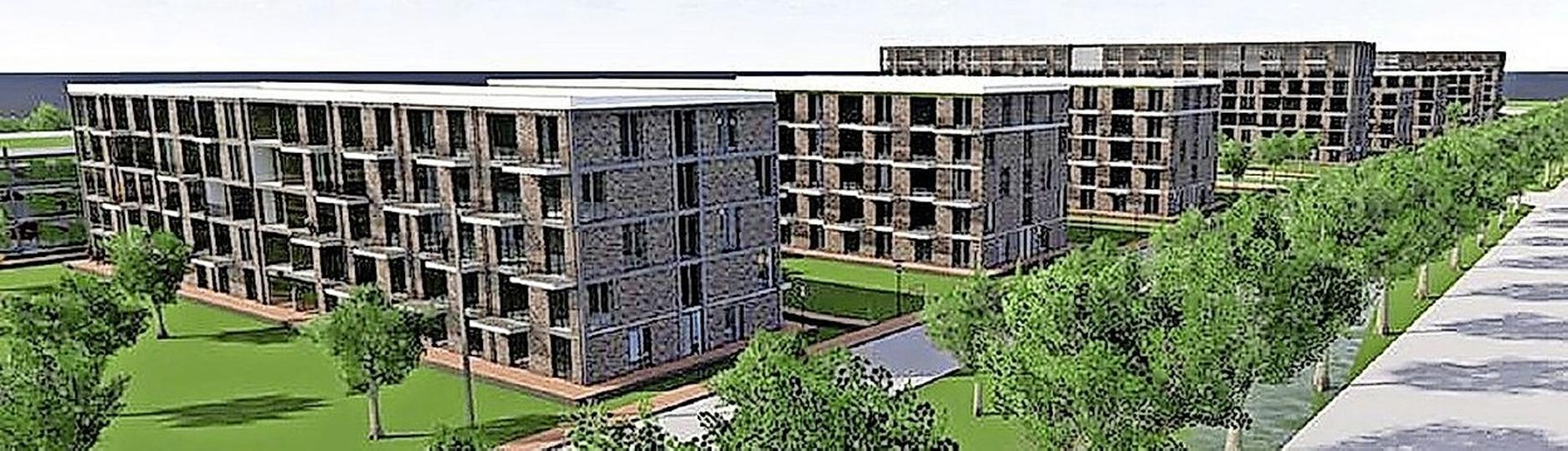 Tijdelijke woningen aan Oosterdreef Nieuw-Vennep