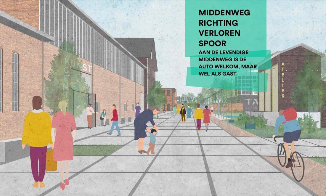 Toekomstige bewoners Hembrug in Zaandam parkeren straks hun auto aan de rand van de wijk en moeten op de (deel-)fiets naar huis