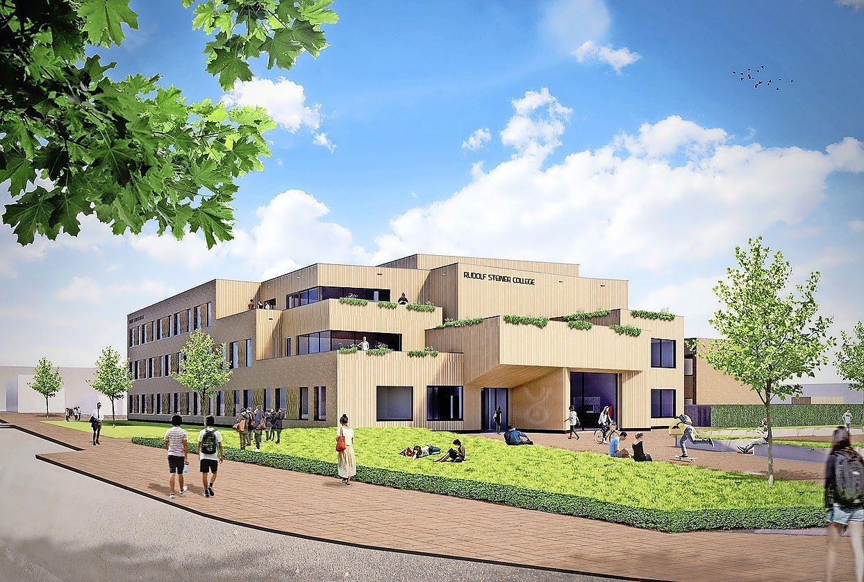 Bouw pand Rudolf Steiner College mag doorgaan: 'Het gebouw staat er al. Alleen aan de binnenkant is nog veel werk te doen.'