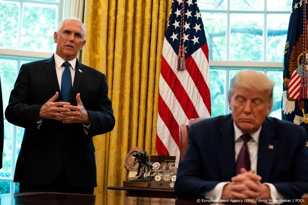 Trump en Pence hebben 'goed gesprek' gehad in Witte Huis