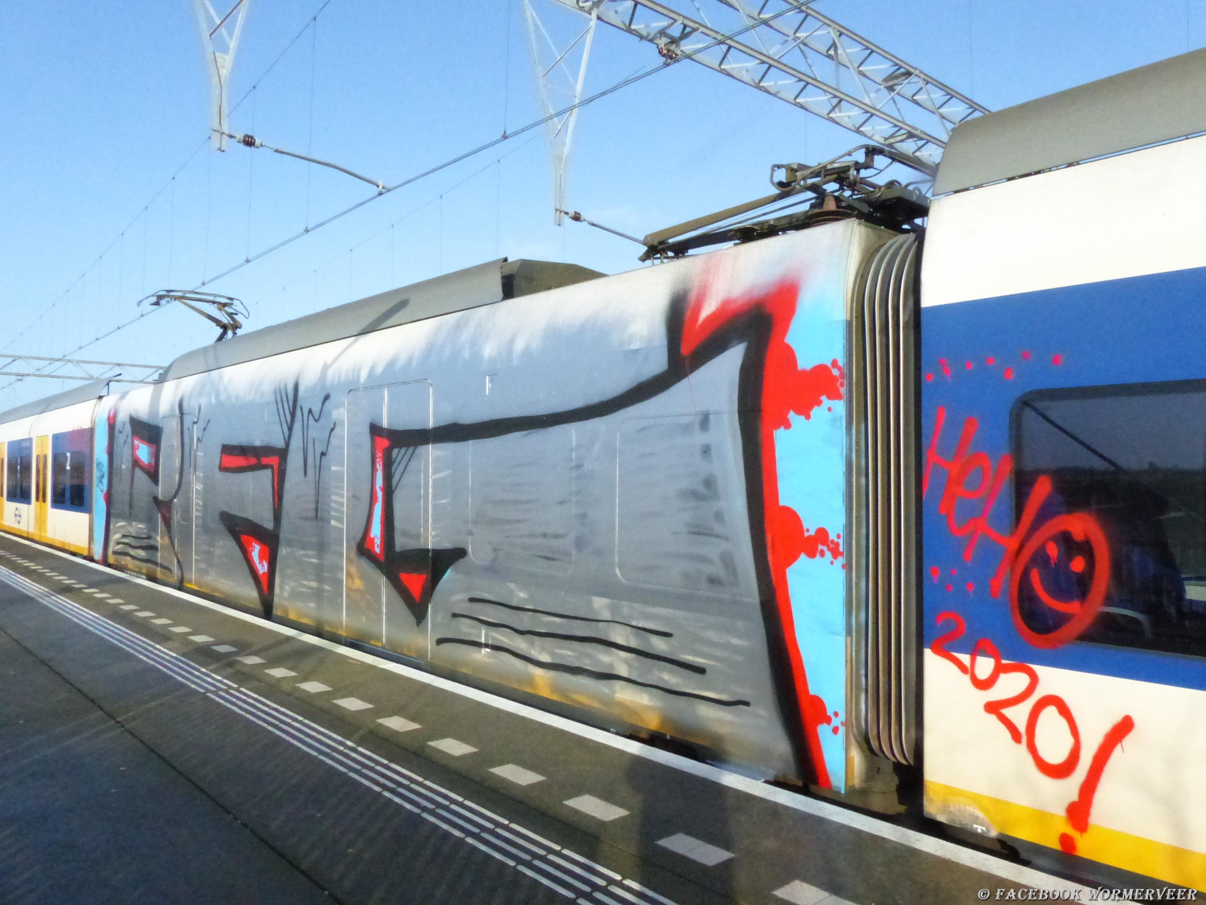 Opnieuw trein beklad op NS-station Wormerveer