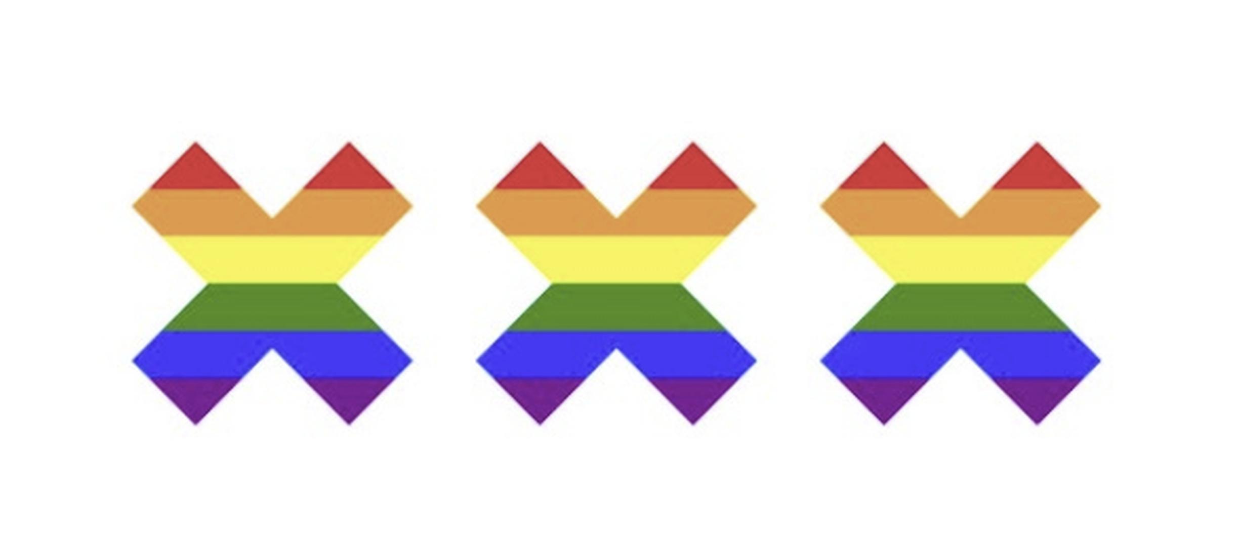 Ajax maakt in aanloop naar EK-wedstrijd statement met kruisen Amsterdam in kleuren van de regenboog