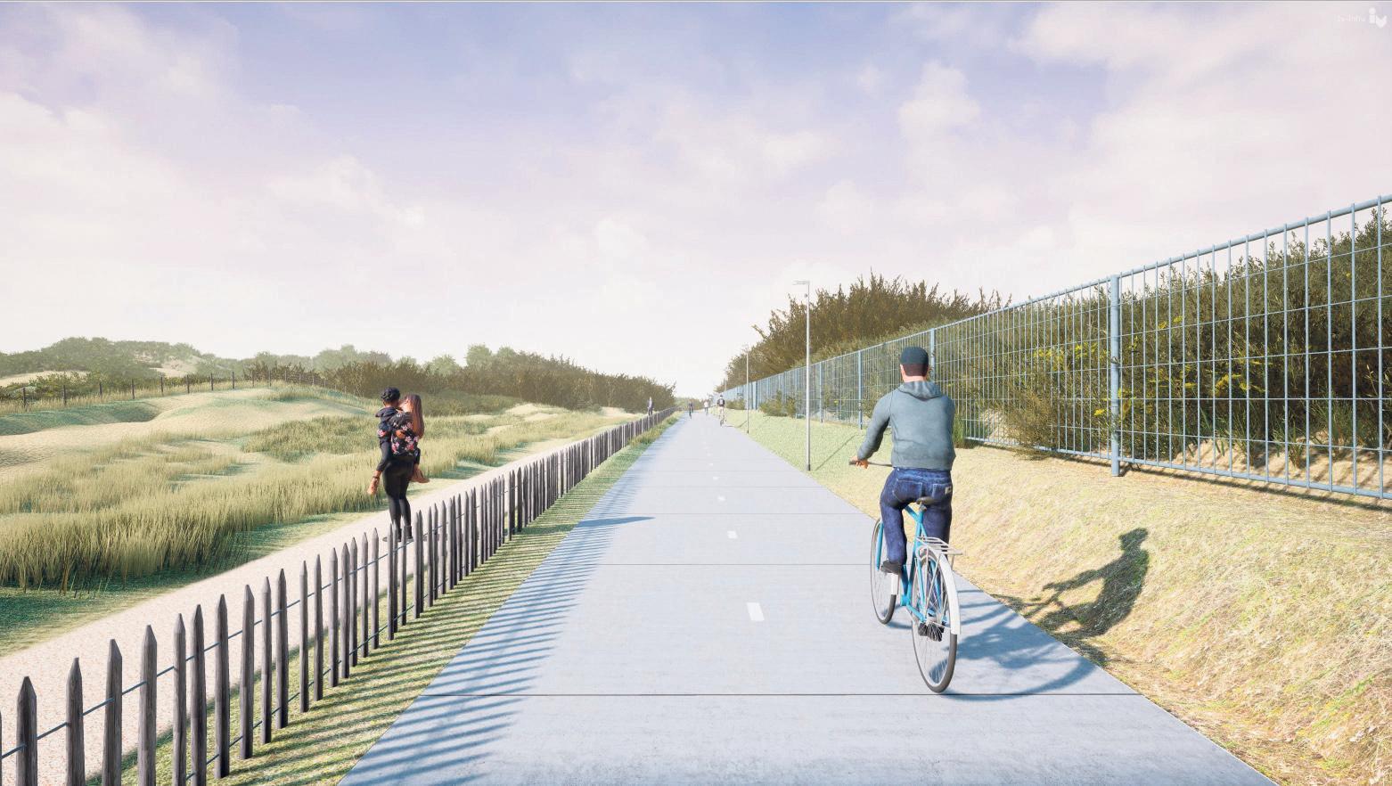 Aanleg van fietspad dwars door Katwijkse duinen begint