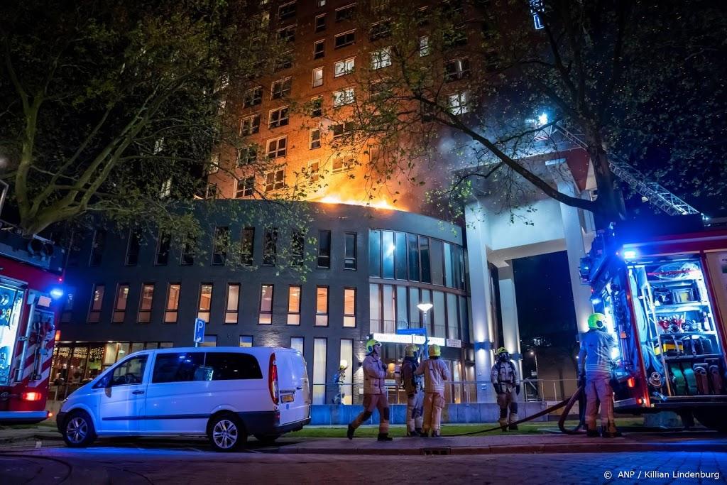 Grote brand in Art Hotel Rotterdam onder controle