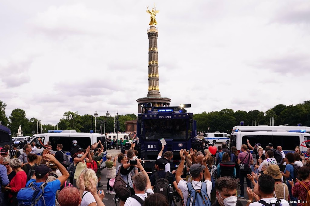 Gemeente Berlijn verbiedt weer betogingen tegen coronamaatregelen