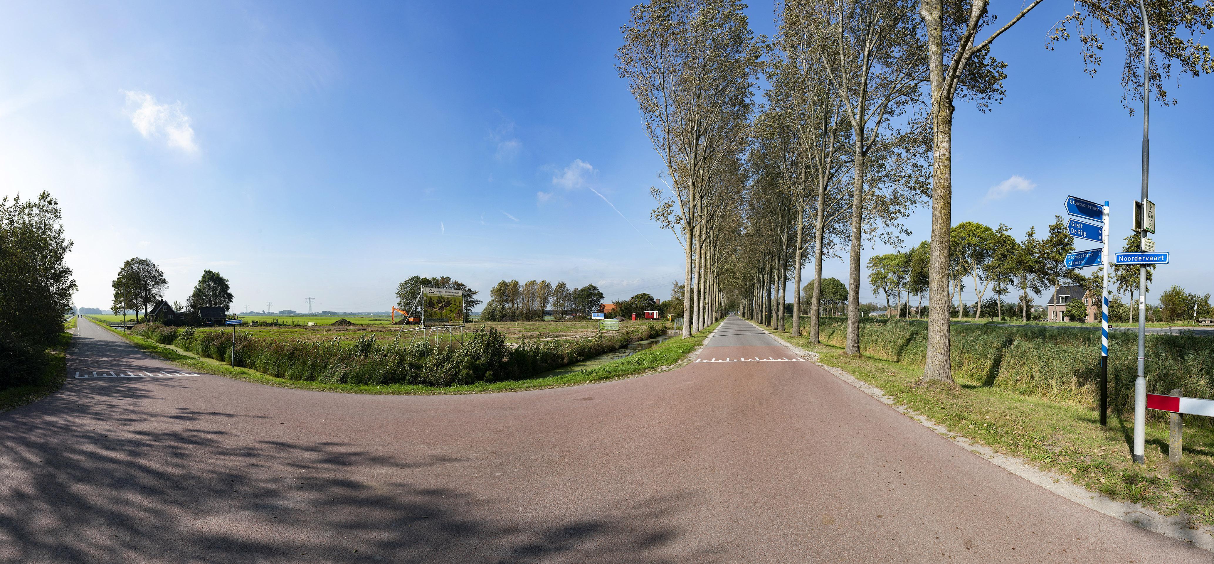 Nieuwbouw in de polder bij Stompetoren, maar (nog) geen sociale sector