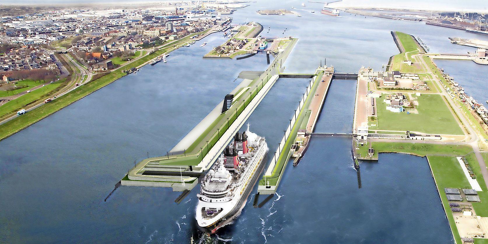 Werk aan Zeesluis IJmuiden, de grootste sluis ter wereld, zo goed als klaar. Twee jaar later dan de planning en voor een veel hoger bedrag [video]