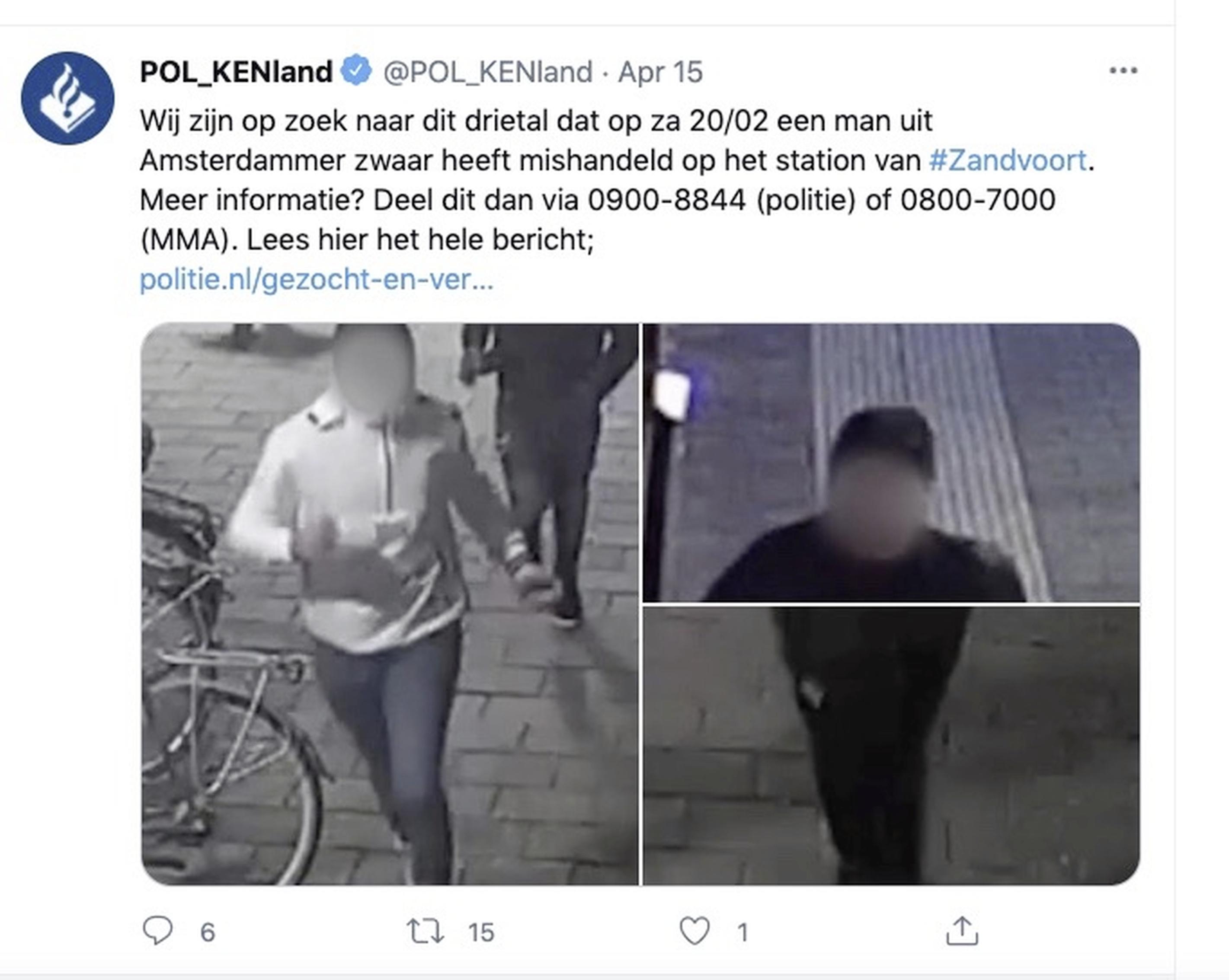 Politie zoekt daders ernstige mishandeling op station Zandvoort