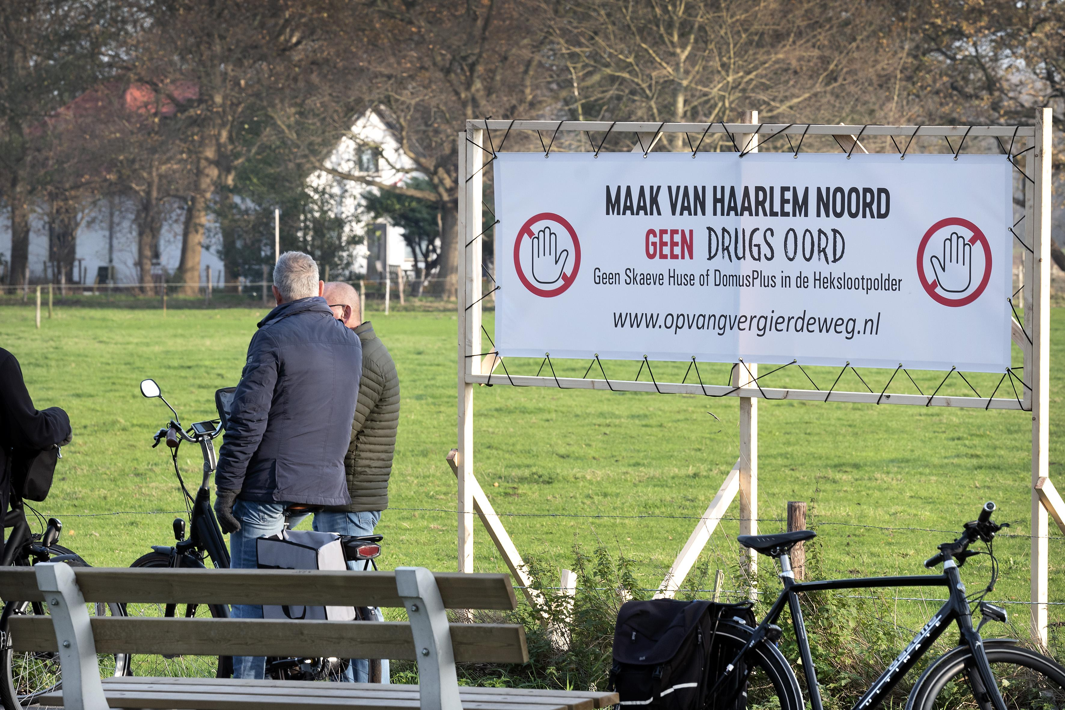 Tegenstanders van skaeve huse in Haarlem openen verzet bij Akendam