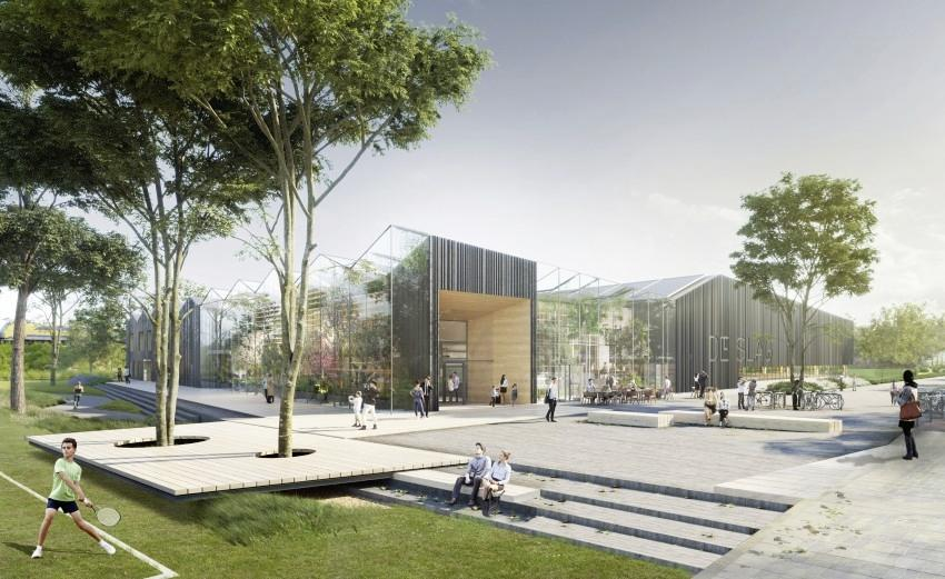 Nieuwbouw zwembad De Slag biedt ruimte voor 130 woningen in Kleurenbuurt