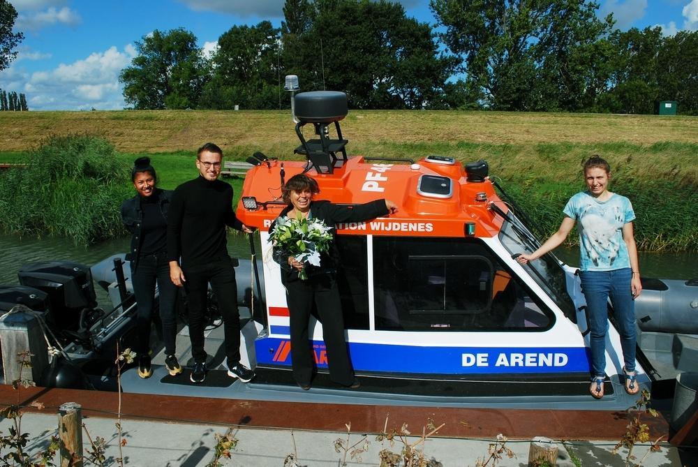 Nieuwe reddingboot Wijdenes heet 'De Arend': eerbetoon aan overleden schipper en redder van het eerste uur Arend-Jan Bruin