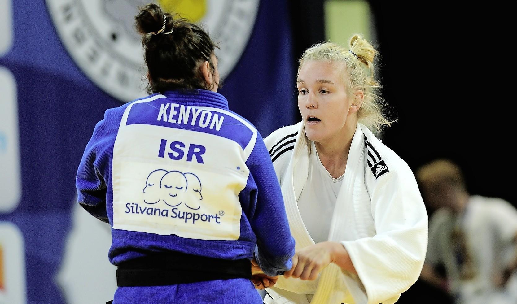 Judoka Karen Stevenson verliest in finale Grand Slam Tbilisi van landgenote Natascha Ausma