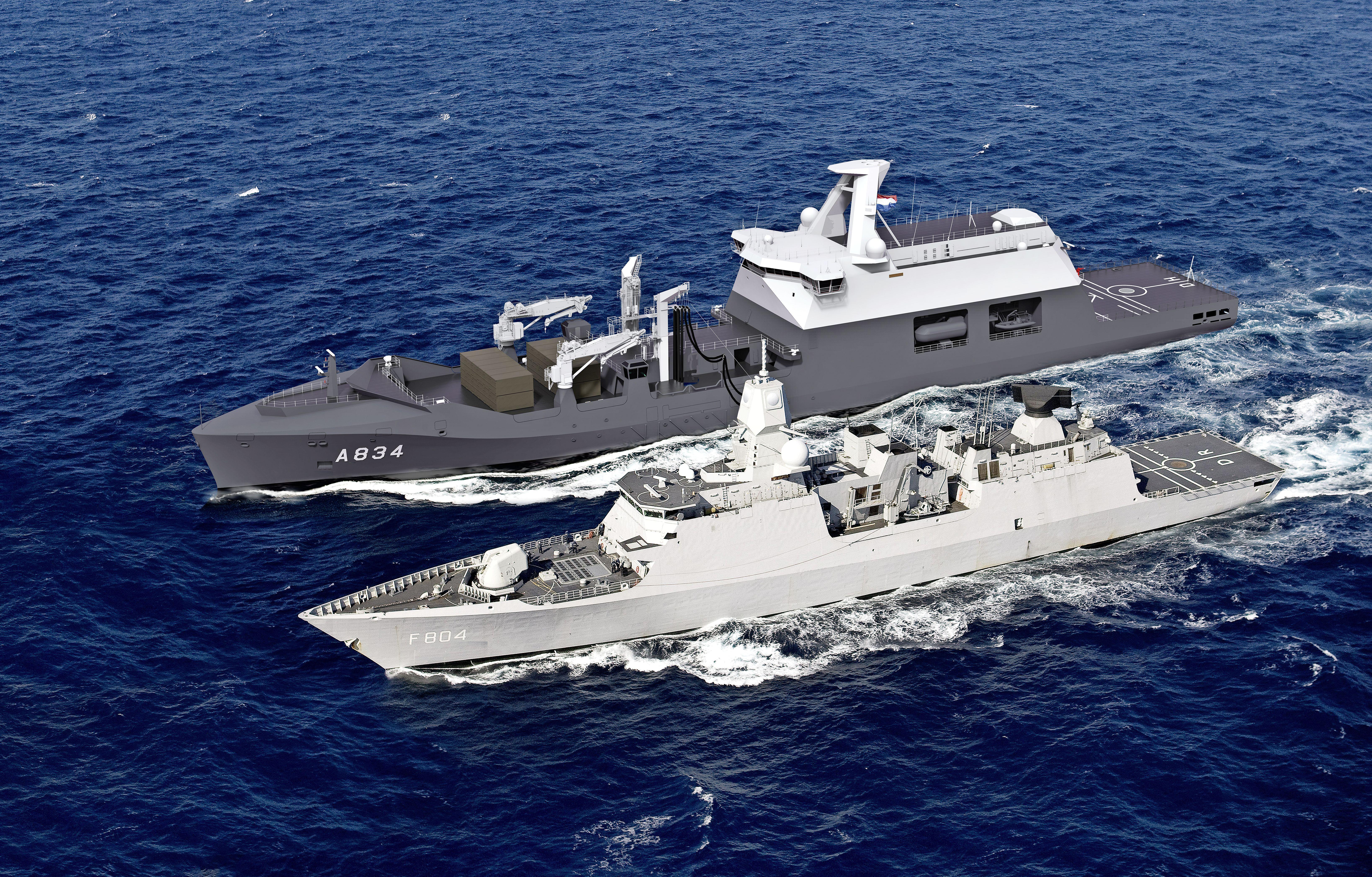 Nederlandse admiraals zelf aan het lassen in Roemenië, waar begonnen is aan de bouw van de toekomstige Zr.Ms. Den Helder