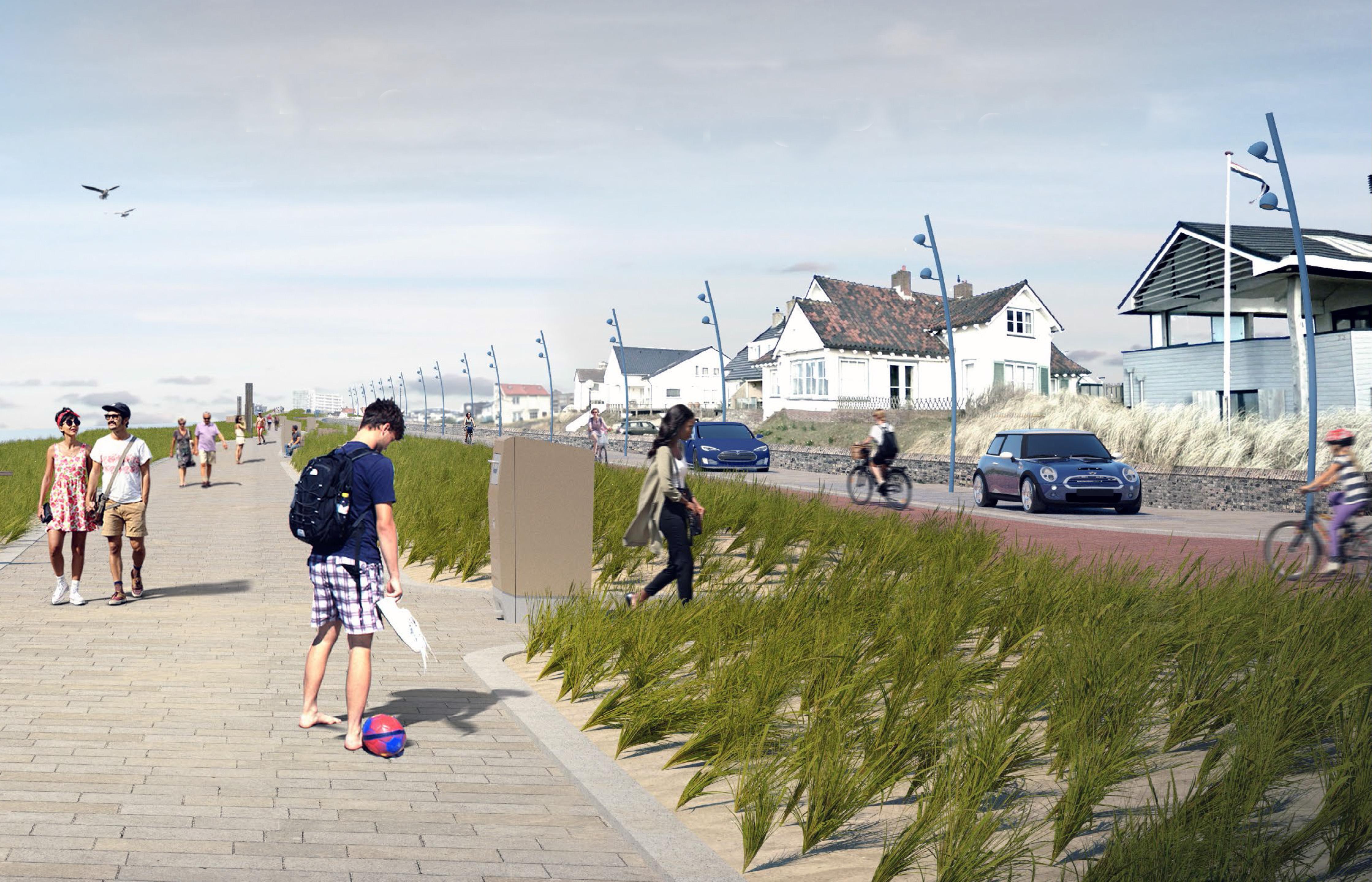 Rioolwerkzaamheden startschot voor herinrichting Boulevard Paulus Loot in Zandvoort die straks groener, moderner en veiliger moet zijn. Maar waar gaan we straks parkeren?, wil VVD weten