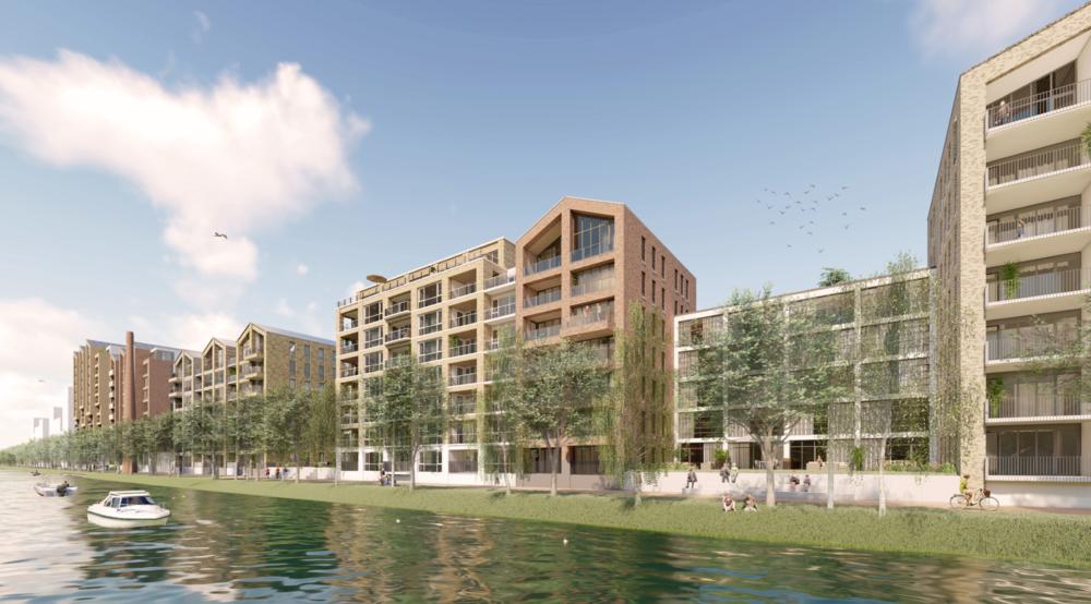 De drie Alkmaarse corporaties willen in de nieuwbouw van de Kanaalzone af van 'te dure' woningen in de sociale koopsector
