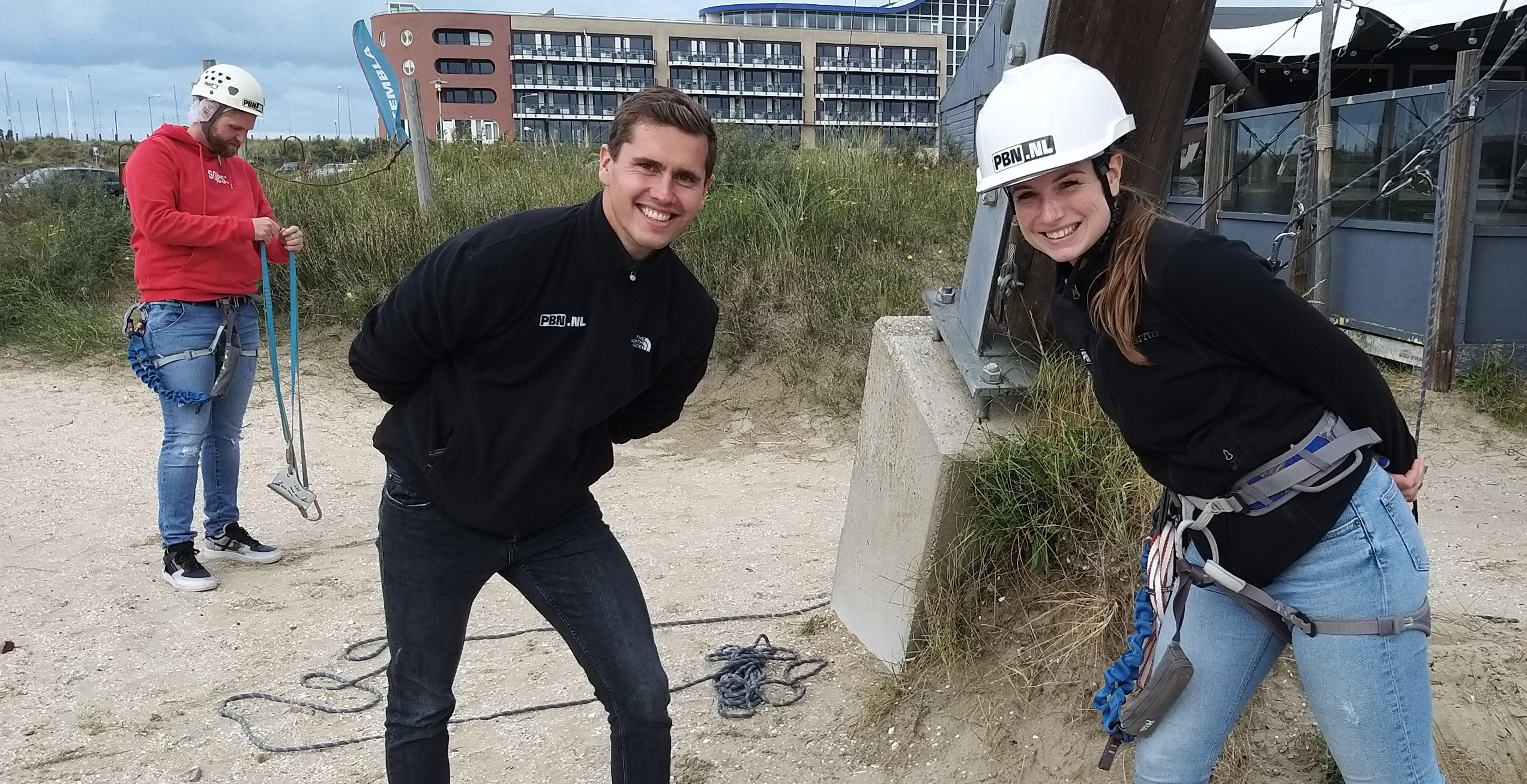 Met Youri en Joëlle naar 22 meter hoogte klimmen: 'Het is een obstakel vol met uitdagingen' | Onderweg