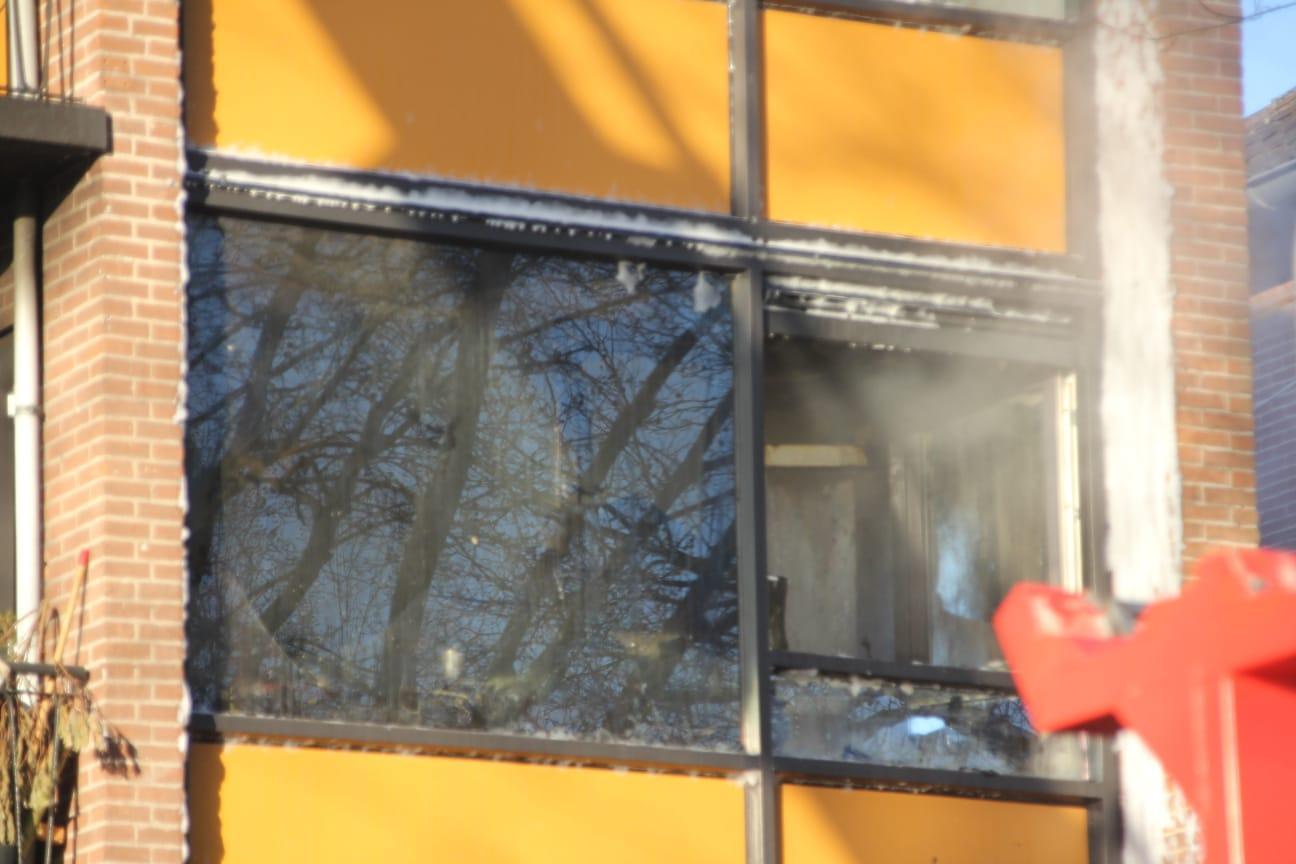 Brand bij woning in Hilversum