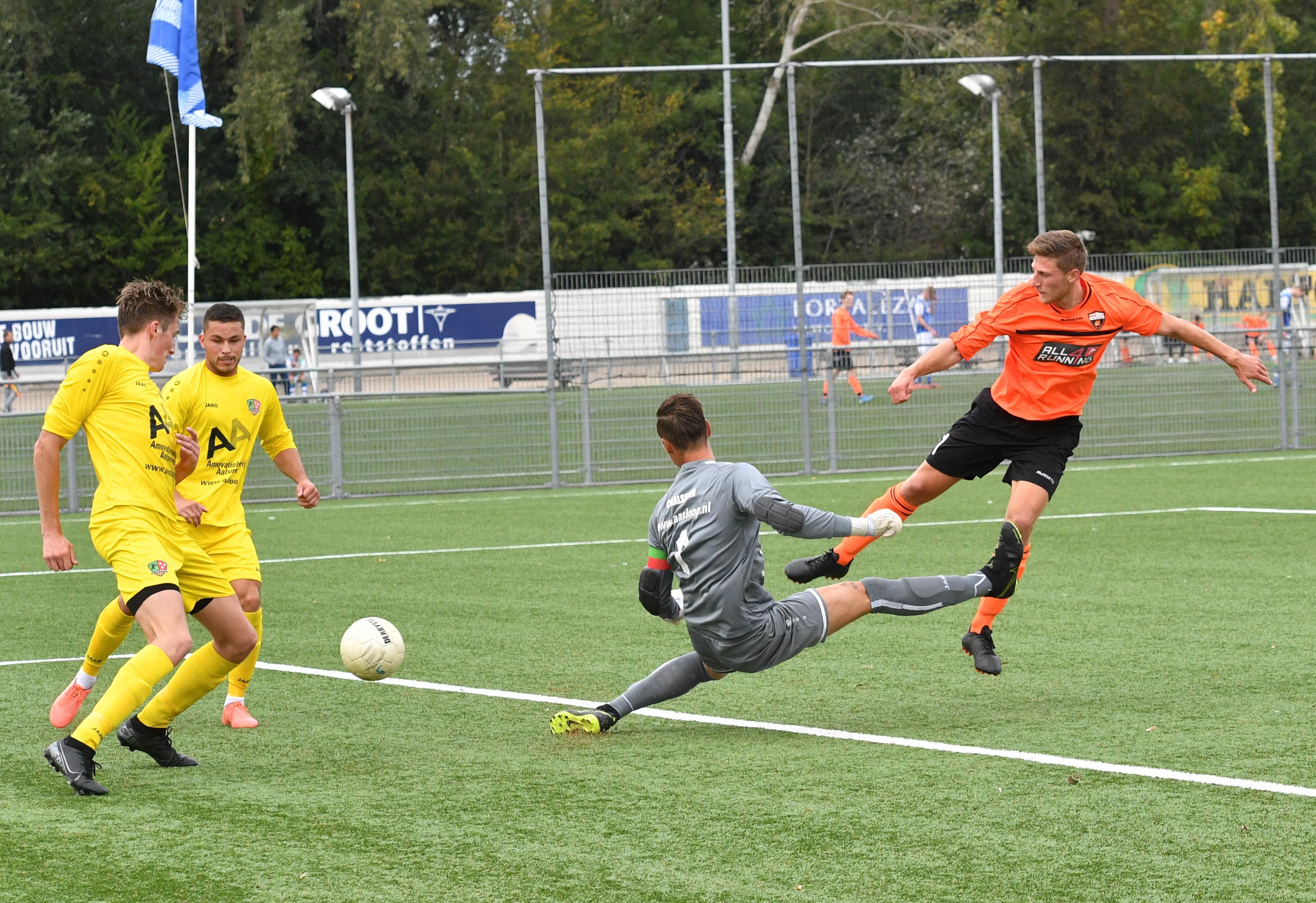 Slotoffensief Aalsmeer kost Jong Holland punt: 'Deze heeft heel erg pijn gedaan'