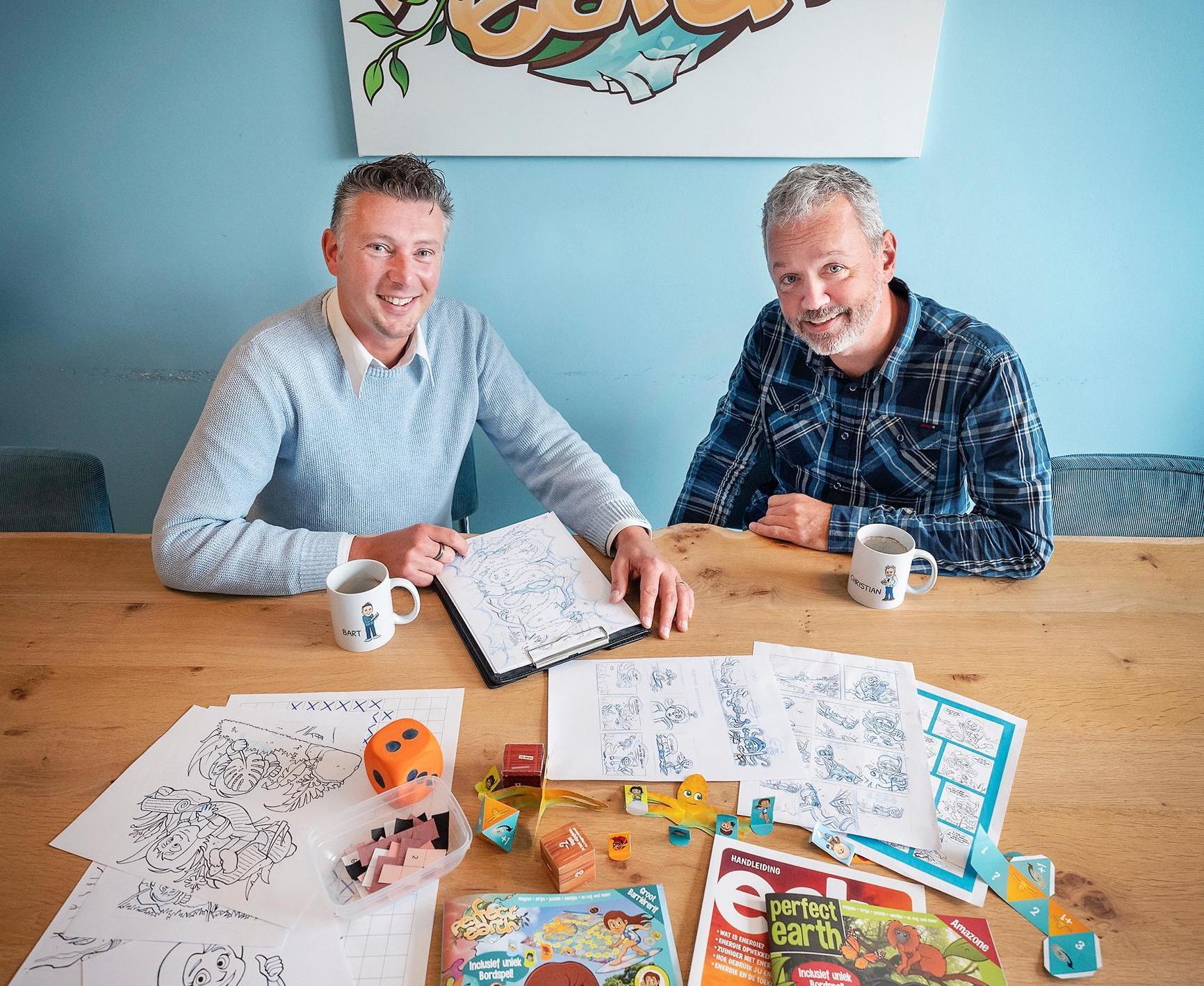 Haarlemmers Bart en Christian maken kindertijdschrift Perfect Earth. Nu is het in heel Nederland te koop