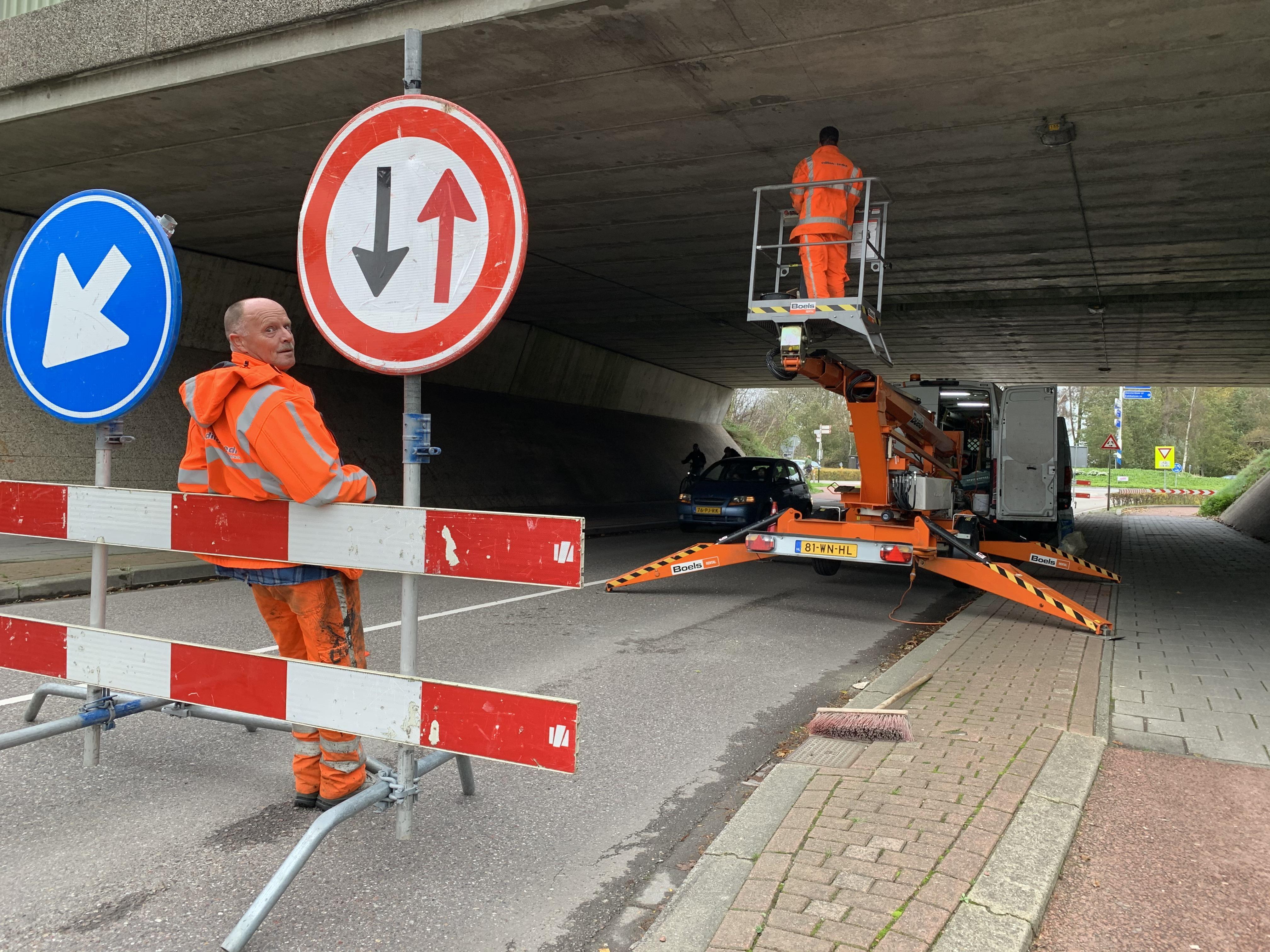 Teamwork in Wognum: van een omwaaiende afzetting en een kapot plafond van het viaduct