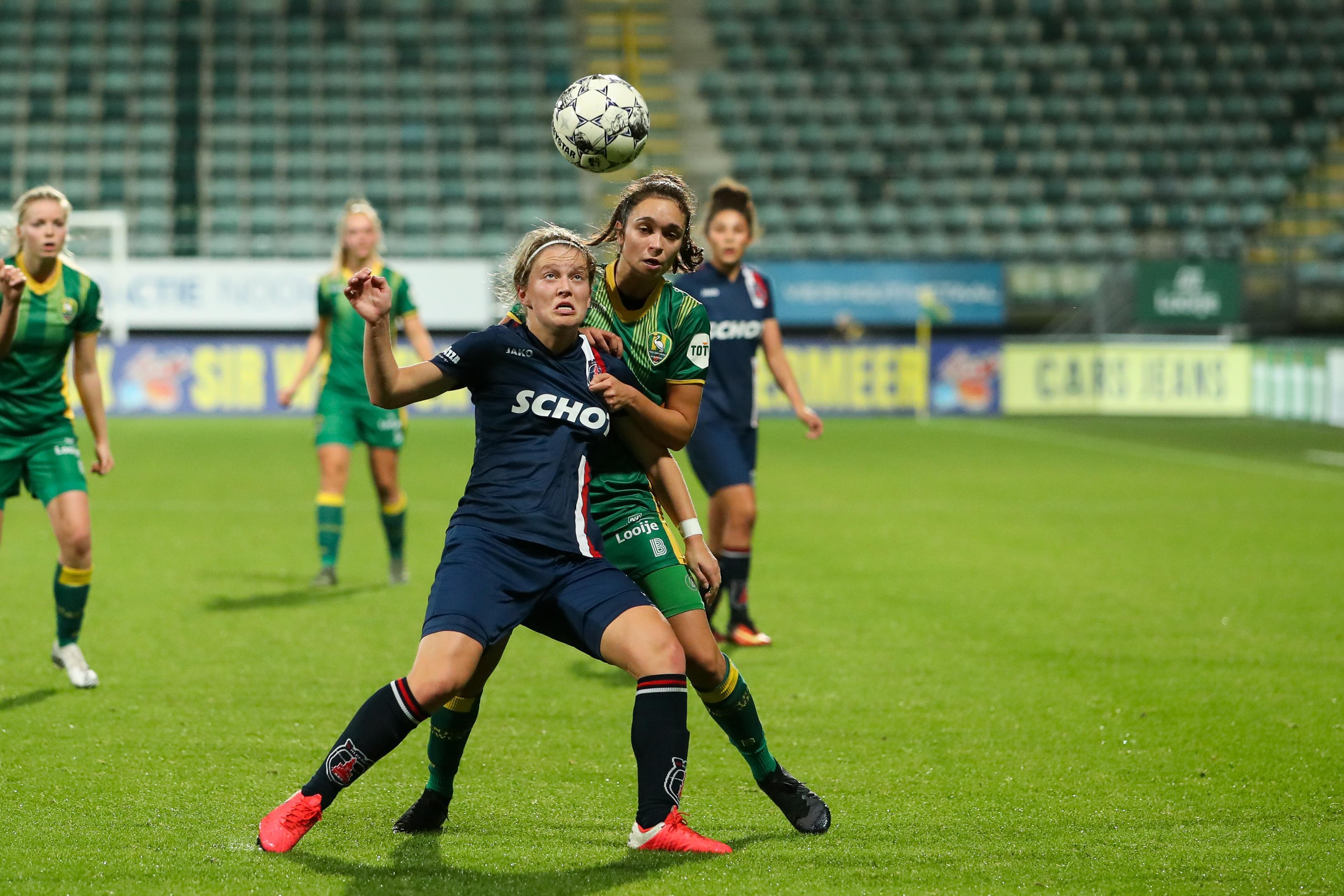 VV Alkmaar hervat competitie in eredivisie vrouwen met gelijkspel in Den Haag: 'Het is toch leuk om weer wedstrijden te kunnen voetballen'