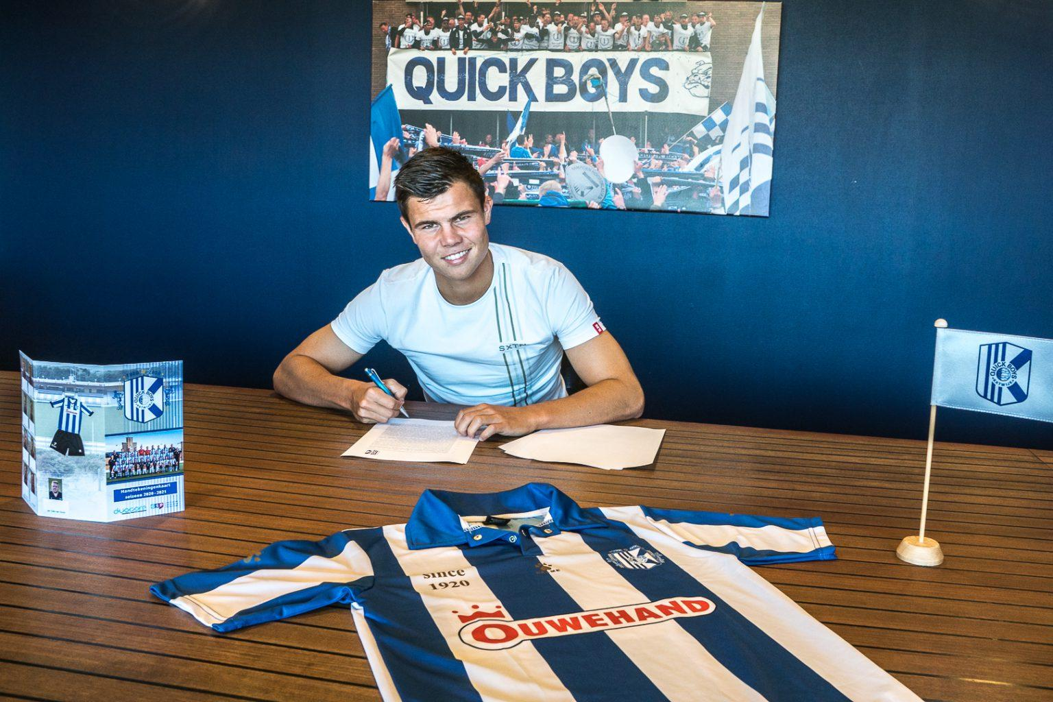 Nick Runderkamp voelt zich als een vis in het water bij Quick Boys: 'Nieuw Zuid ligt mij wel, alle wedstrijden heb ik hier gewonnen'