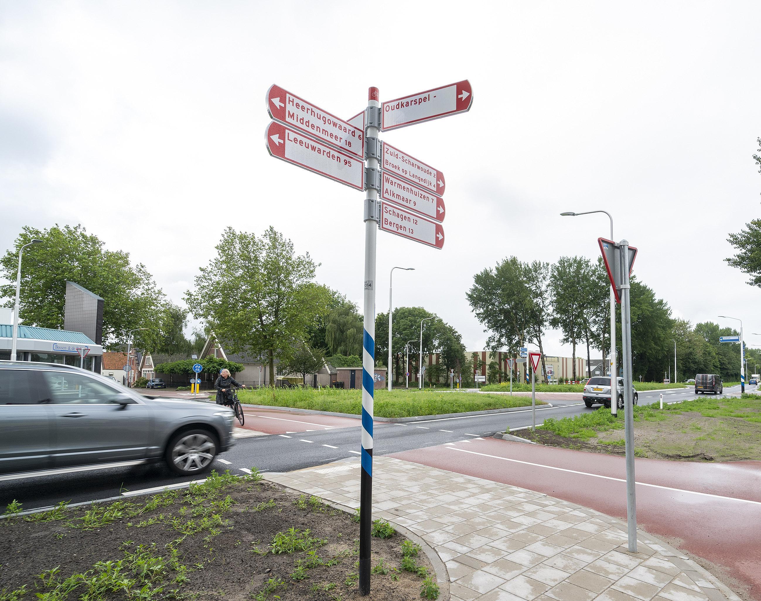 Wethouder 'enigszins gerustgesteld' over nieuw voorrangsplein N504 in Noord-Scharwoude: 'Bij reden tot zorg gaan we terug naar provincie'