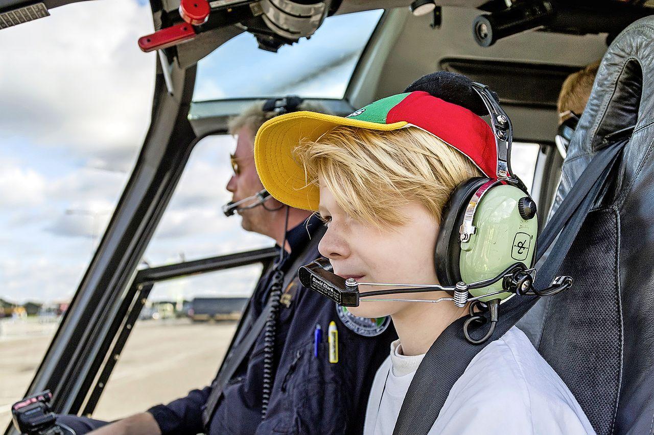 Helikopterdag in Noordwijk voor zieke en gehandicapte kinderen