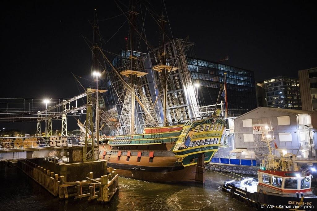 VOC-schip Amsterdam teruggekeerd naar Scheepvaartmuseum