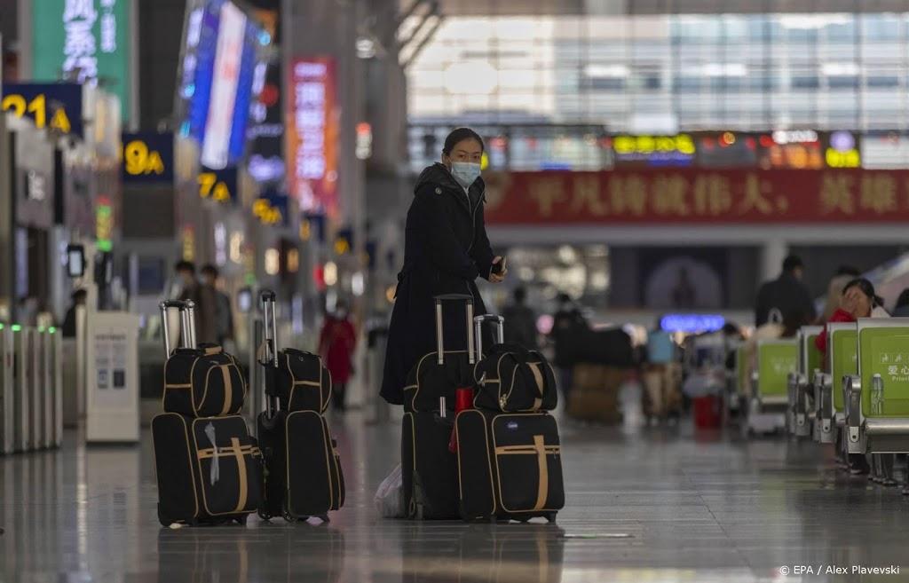 Ruim helft minder Chinezen op pad voor Chinees Nieuwjaar