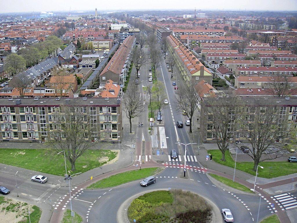 Rotonde Lange Nieuwstraat-Planetenweg in IJmuiden lang dicht, verkeer kan deels langs werkzaamheden, meer ruimte voor fietsers
