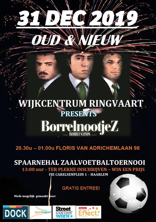 Oudjaar in Haarlem-Schalkwijk: voetbal en comedy houden jongeren van straat