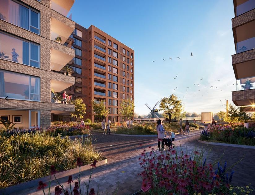 Plan voor 607 appartementen Zaanse Helden in Westerwatering glijdt soepel door Zaanse raad