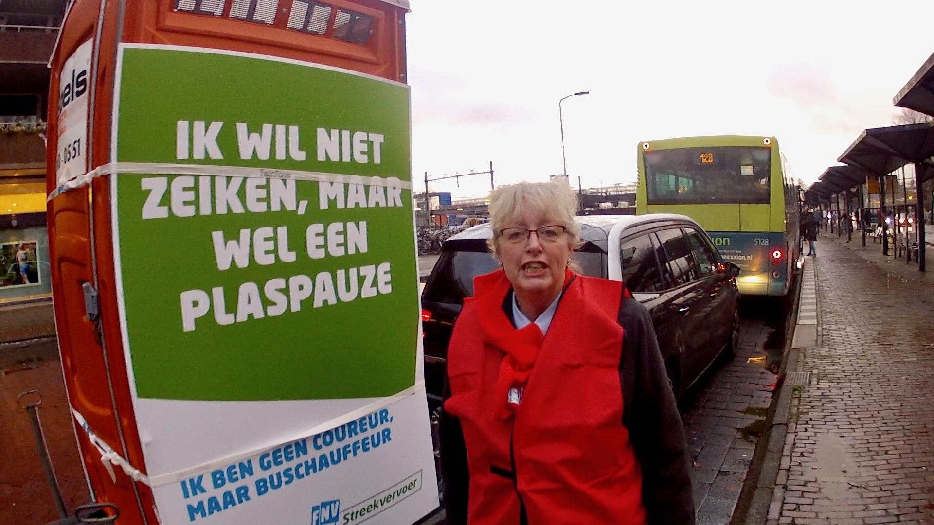 Actie buschauffeurs voor plaspauze: 'Dan drink je maar minder, zeiden ze' [video]