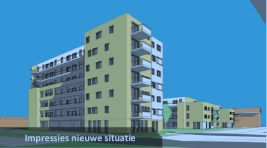 Nieuwbouw Pinksterbloem Leiderdorp flink hoger dan huidige portiekflats