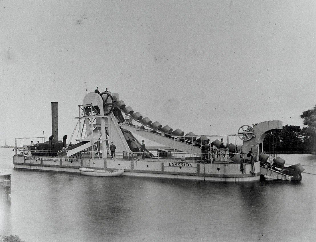 Grote bedrijven wilden in negentiende eeuw het zuinige Haarlem verlaten: het uitbaggeren van het Spaarne voorkwam deze leegloop
