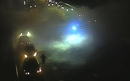 A10 bij Buitenveldert afgesloten om autobrand en ongeluk [update]