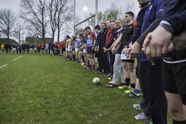Haarlemse rugbyers solidair met homoseksuelen