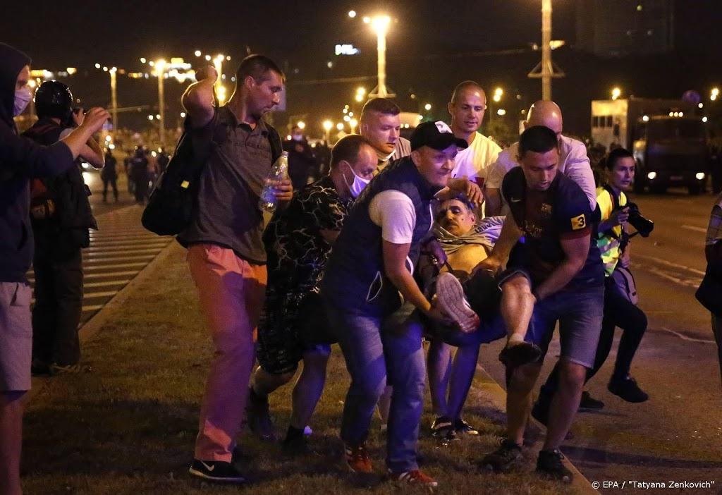 Protesten en botsingen met politie in Wit-Rusland