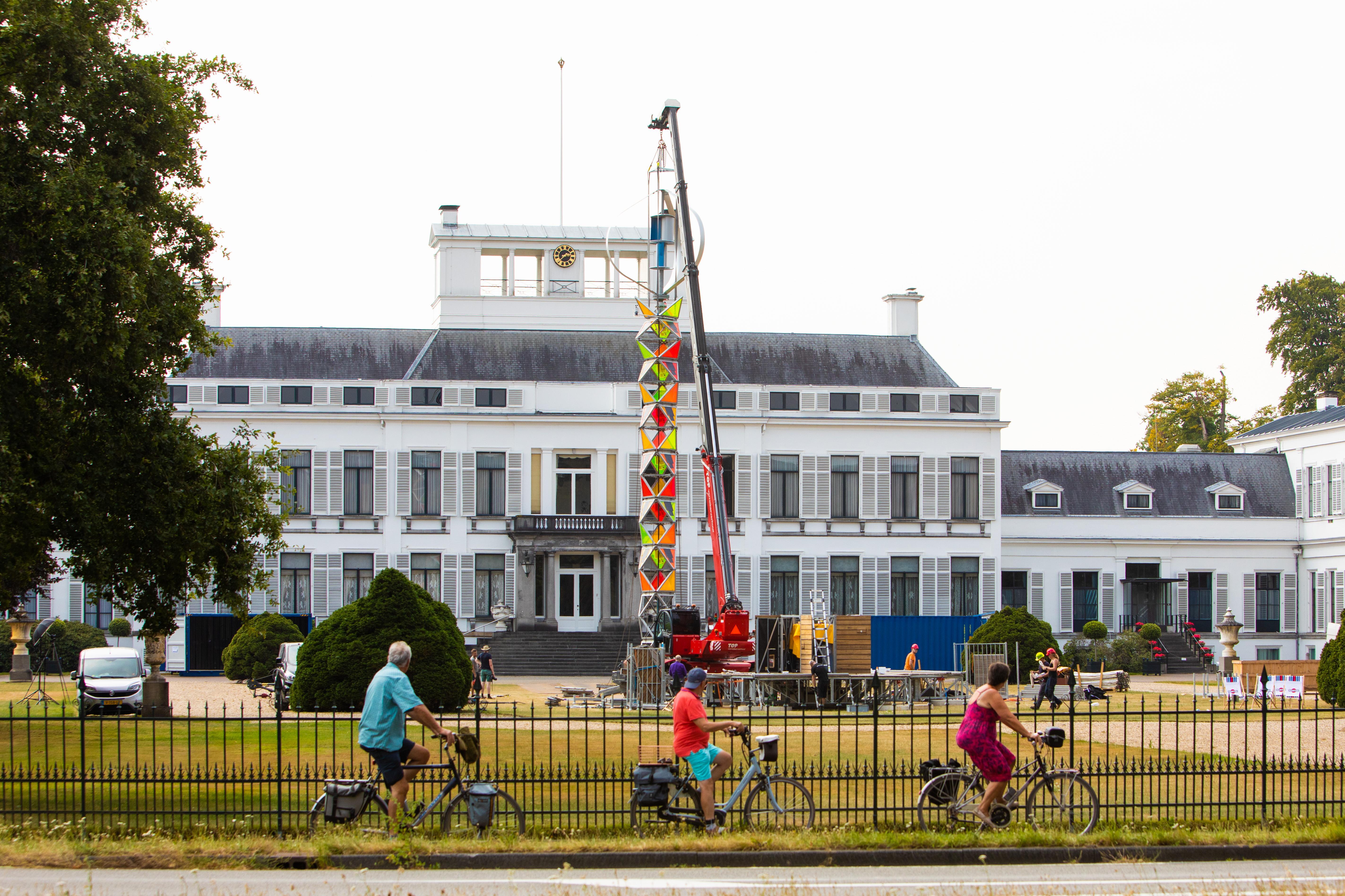 Paleis Soestdijk tijdelijke testlocatie voor GEM-Tower, de leverancier van groene energie bij festivals