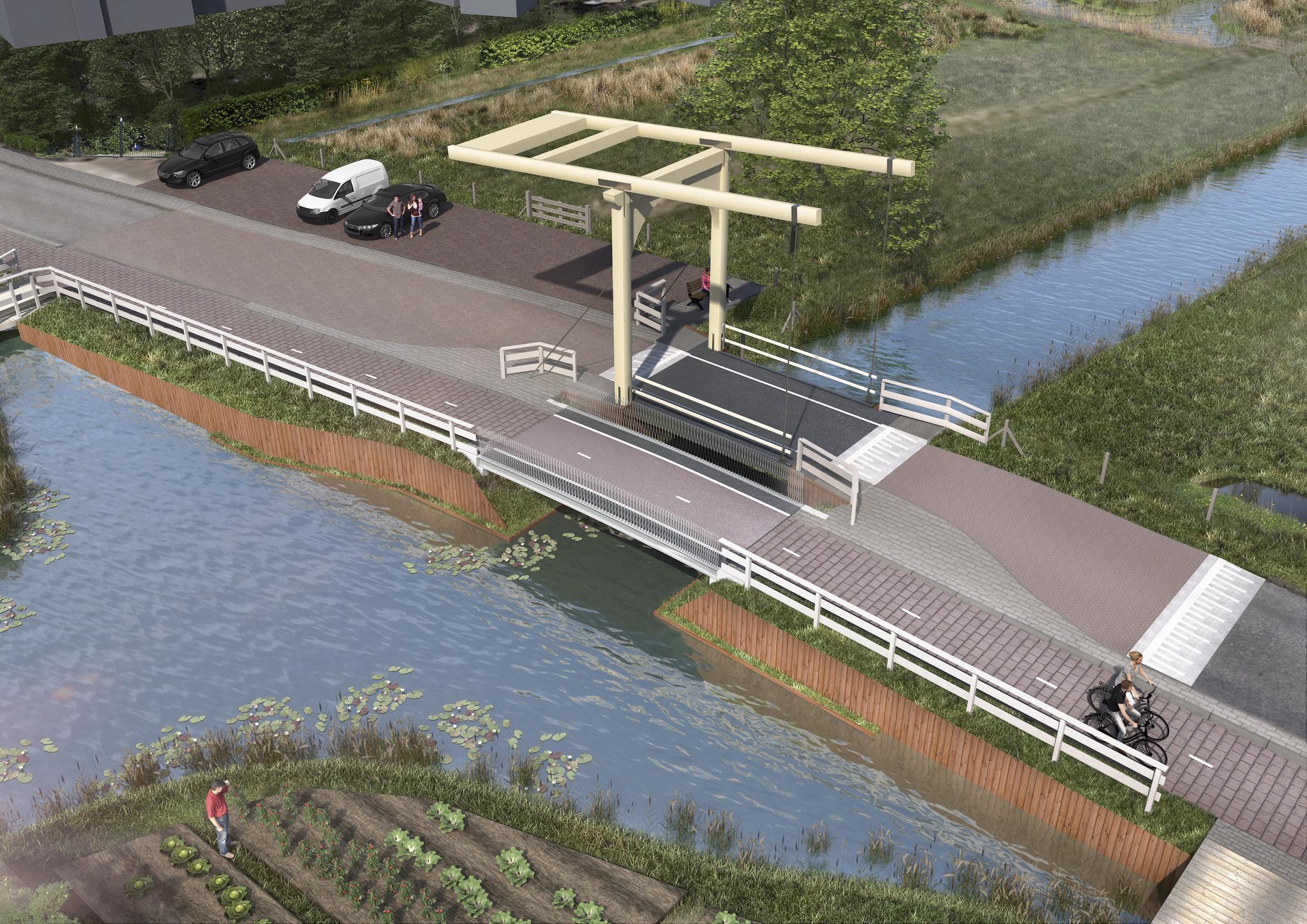 Het dorp Ankeveen krijgt bij de entree een iconische brug terug