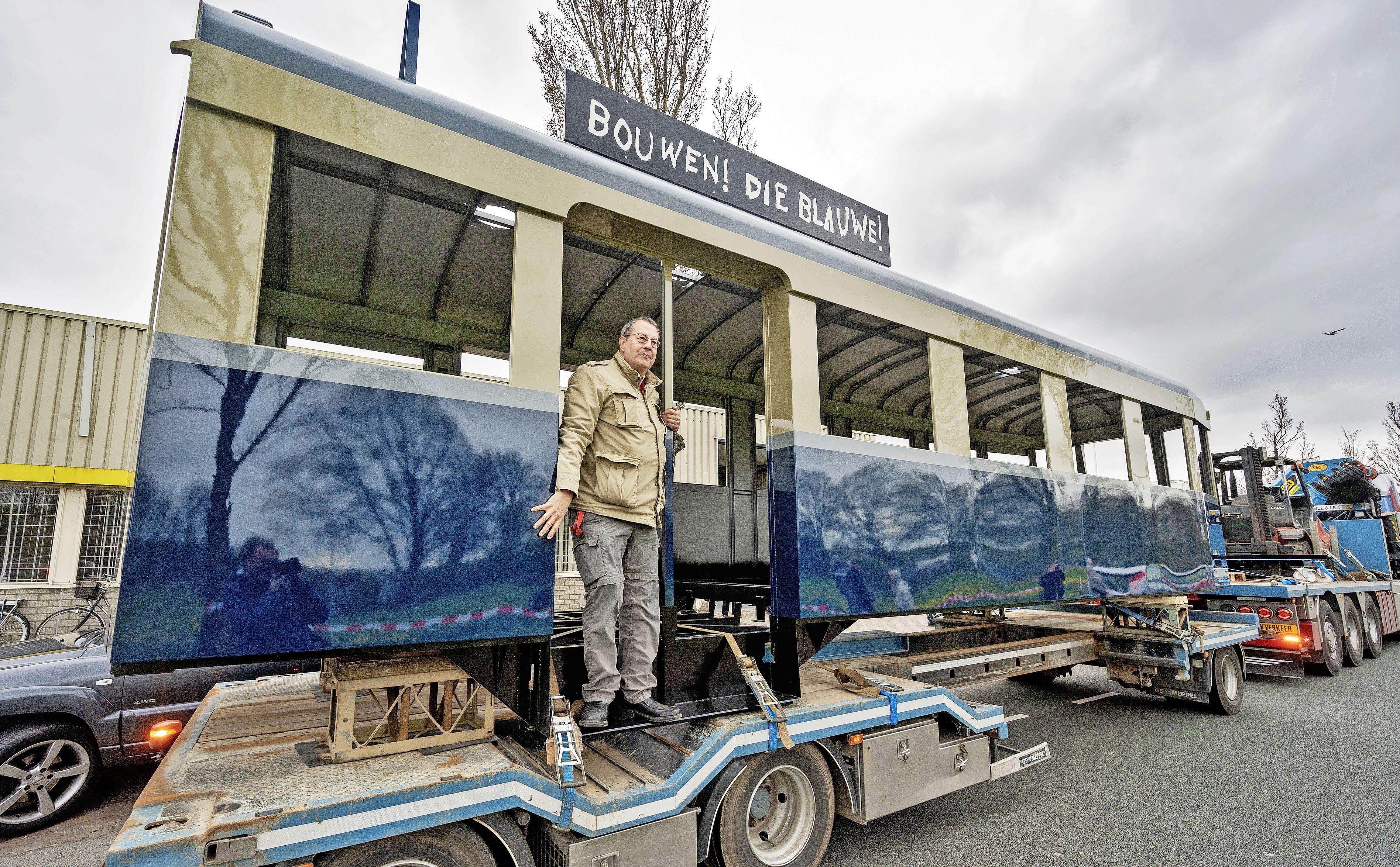 Haarlem heeft zijn iconische Blauwe Tram terug 'Droom wordt werkelijkheid'