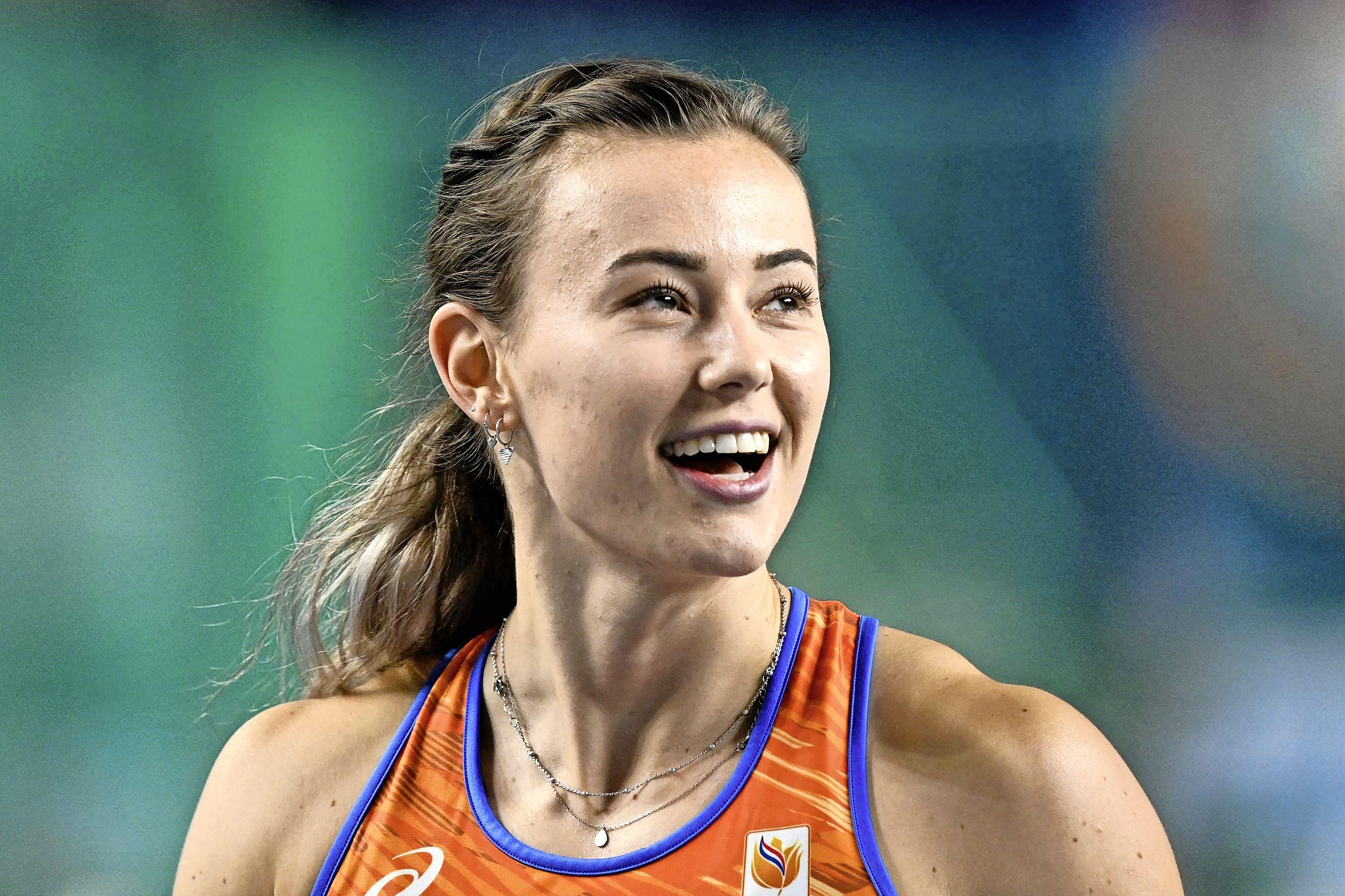 Nadine Visser prolongeert Europese indoortitel op 60 meter horden. Hoogkarspelse atlete is klasse apart [video]