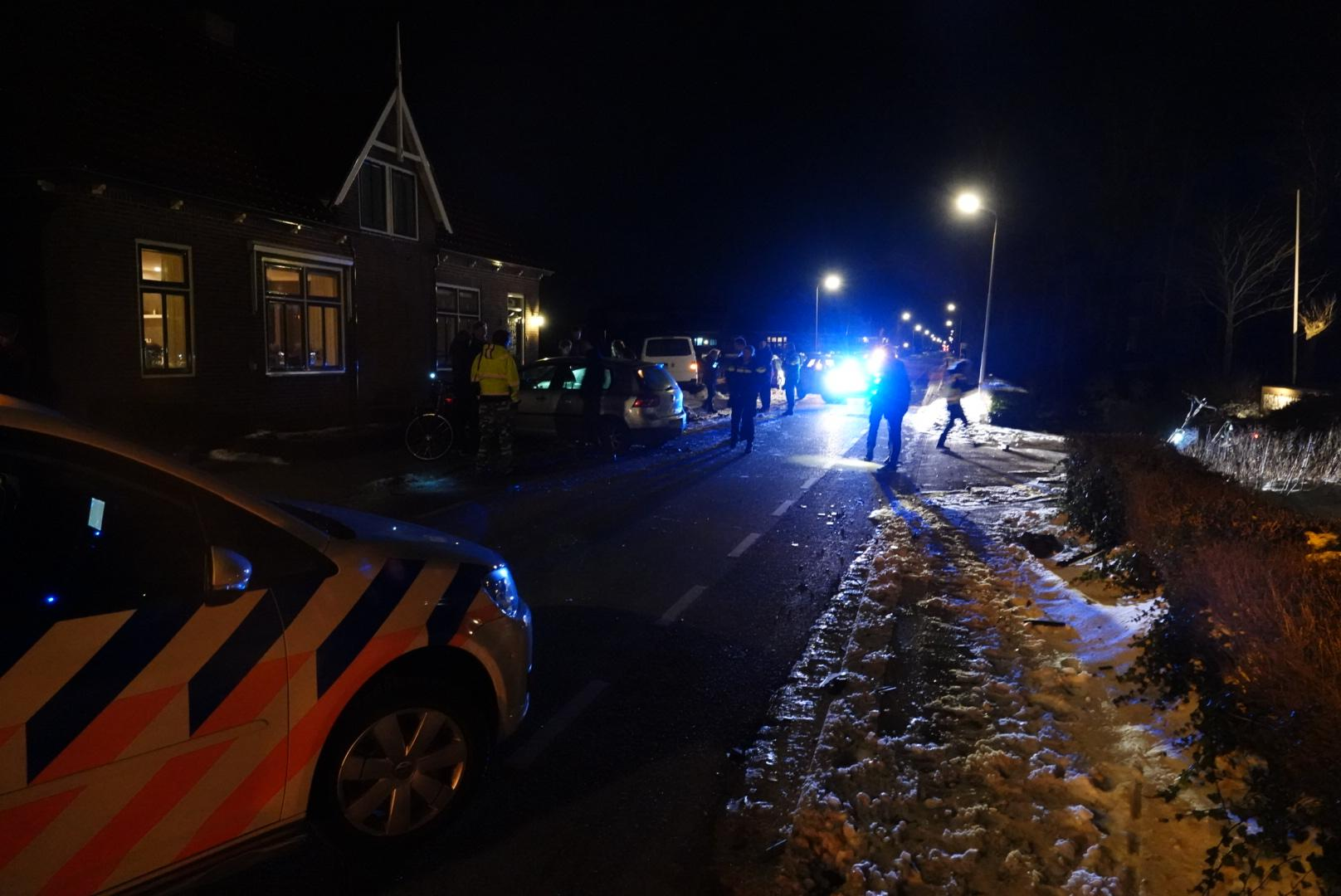 Bestuurder aangehouden na aanrijding in Westwoud