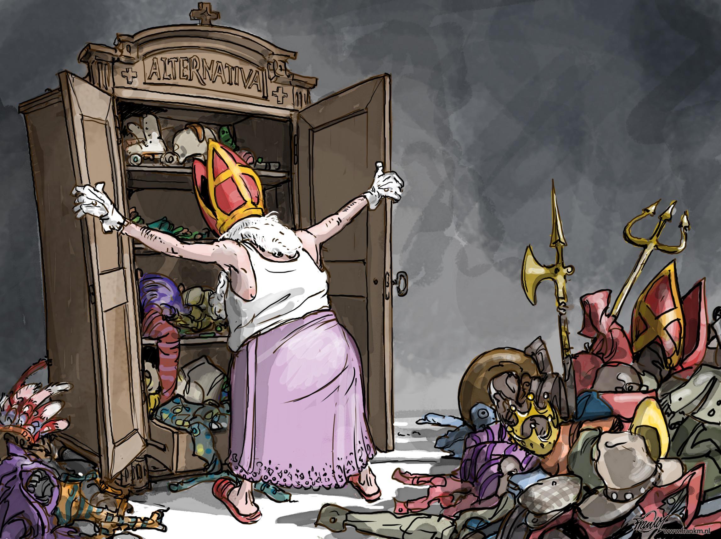 Sinterklaas is in deze tijd zichzelf niet - zodat hij toch nog even langs kan komen | cartoon Muntjewerf