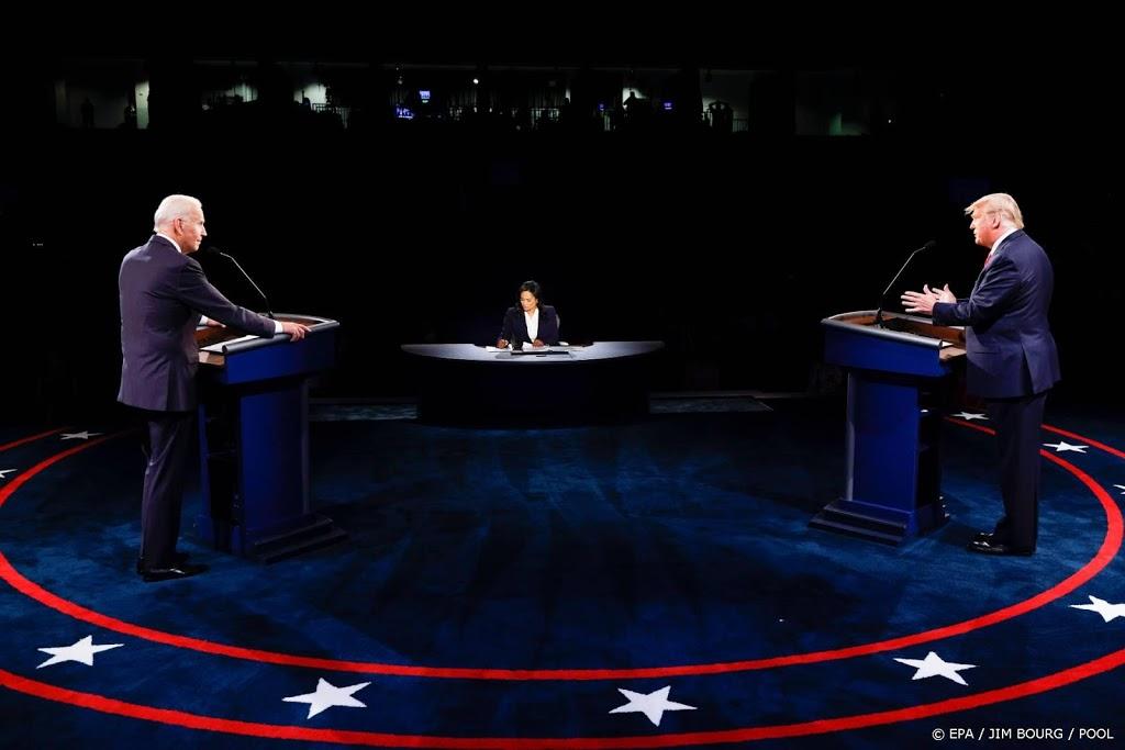 Tweede debat Trump-Biden trekt minder kijkers dan eerste duel