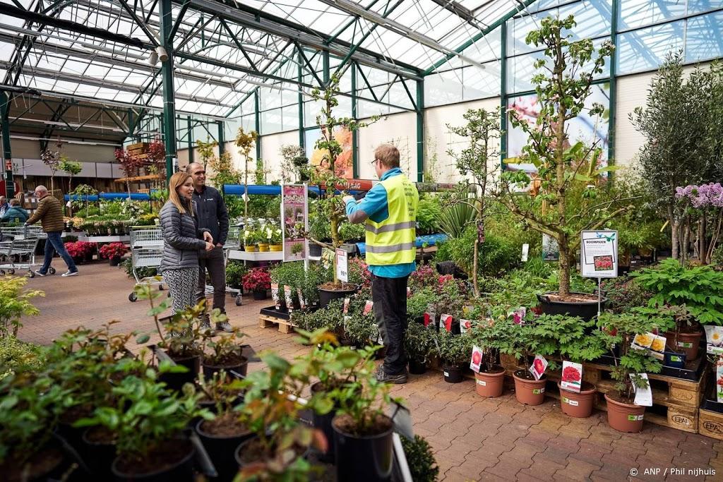 Tuincentra blij dat ze straks meer klanten mogen ontvangen