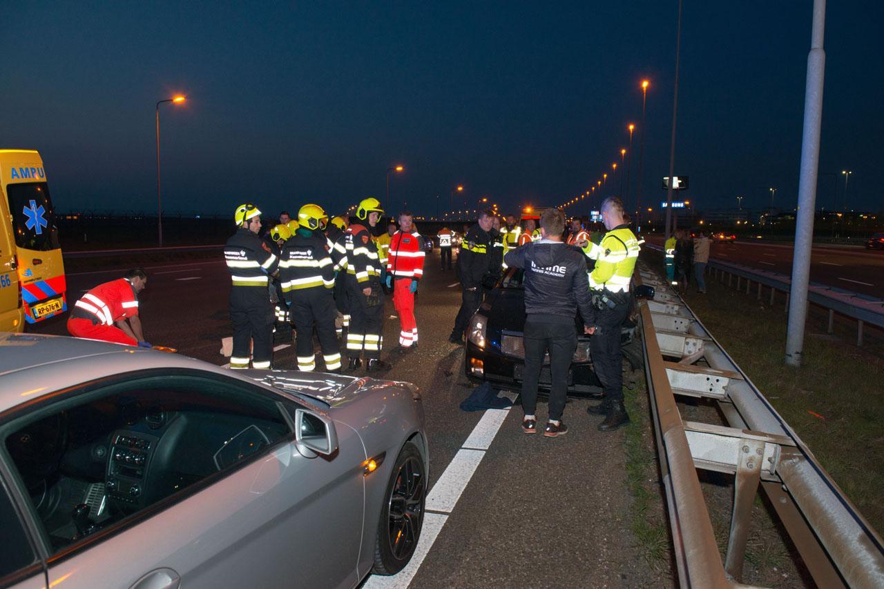 Automobilist gewond bij ongeluk op de A4
